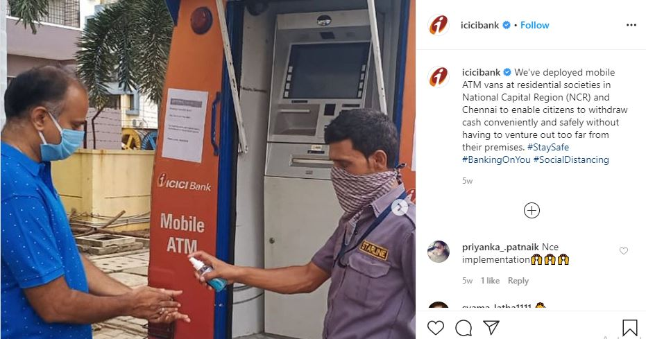 ICICI Banking on you hashtag