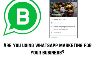 Are you using WhatsApp Marketing for Business Opportunities?