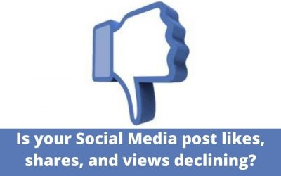 Is your Social Media post likes, shares, and views declining?
